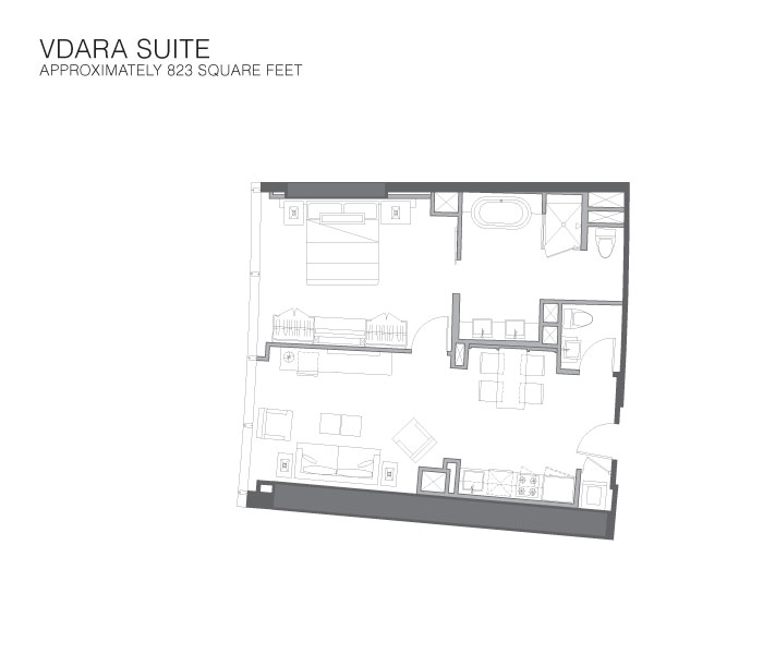 Vdara Condo Hotel-Rooms-Vdara Suite - Ma\'s Hotels & Resorts Inc.